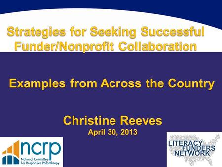 Given the National Data Platform: What can literacy funders learn from other collaborations?
