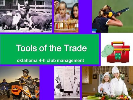 Oklahoma 4-h club management. Positive Youth Development.