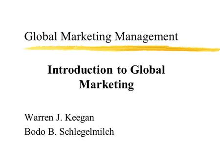 chapter 1 summary warren j keegan Selection from marketing plans: how to prepare them,  —warren j keegan,  chapter 1: understanding the.