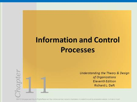 Information and Control Processes