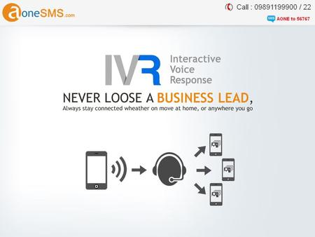 IVR (Interactive Voice Response) Virtual Number is your personal reception hosted virtually in cloud telephony environment. In this you get a personal.
