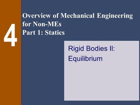 Rigid Bodies II: Equilibrium