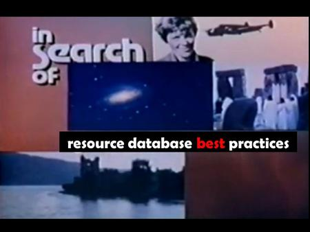 Resource database best practices. resource database, 2000 bc for the purposes of this conversation, best practices are those protocols and strategies.