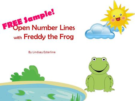 FREE Sample! Open Number Lines with Freddy the Frog