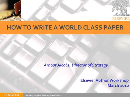 How to write a strategy paper