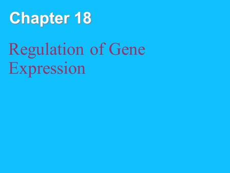 Chapter 18 Regulation of Gene Expression. Copyright © 2008 Pearson Education Inc., publishing as Pearson Benjamin Cummings Overview: Conducting the Genetic.