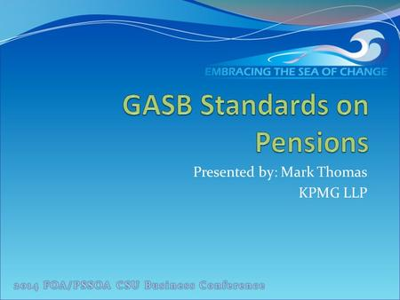 GASB Standards on Pensions