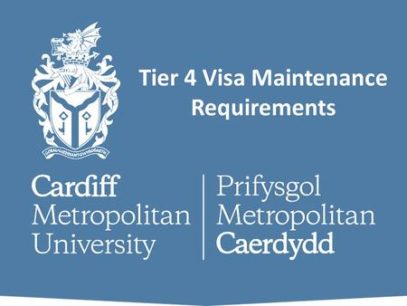 Tier 4 Visa Maintenance Requirements. What Documents Do I Need for my visa application? You need to submit a number of original documents to support your.