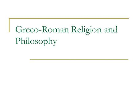 Greco-Roman Religion and Philosophy.  static/map11.html.