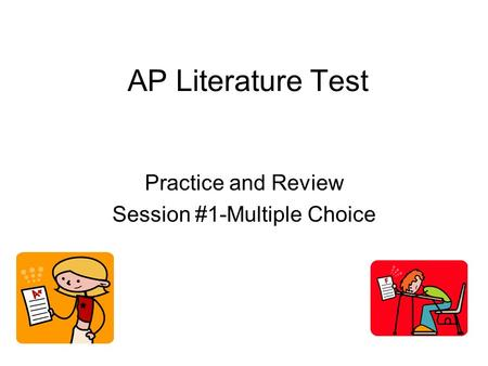 Practice and Review Session #1-Multiple Choice