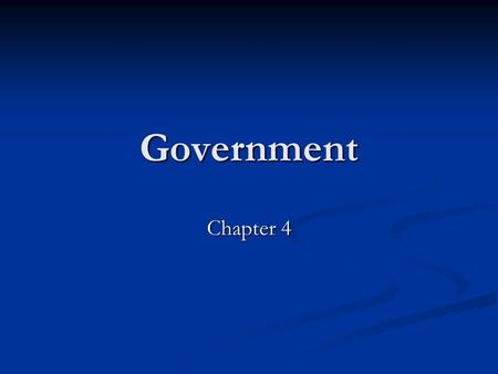 Government Chapter 4. Section 1 Federalism Federalism: system of government in which governmental powers are divided between the national and state governments.
