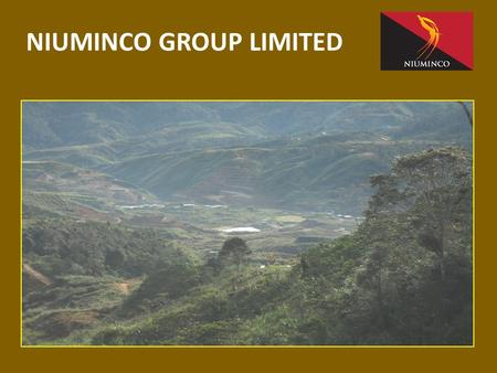NIUMINCO GROUP LIMITED. Important Information This presentation is not a prospectus nor an offer of securities for subscription or sale in any jurisdiction.