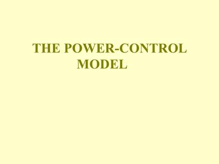 "THE POWER-CONTROL MODEL. POWER OF CONTINGENT VARIABLES ""At best, the four contingent variables (size, technology, environment and strategy) explain only."