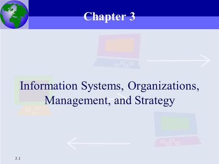 3.1 Information Systems, Organizations, Management, and Strategy Chapter 3.