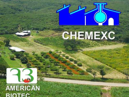 CHEMEXC AMERICAN BIOTEC. Who are we ? VISION MISION Group <strong>of</strong> companies that work in research, development, manufacture and <strong>commercialization</strong> <strong>of</strong> bio pesticides.