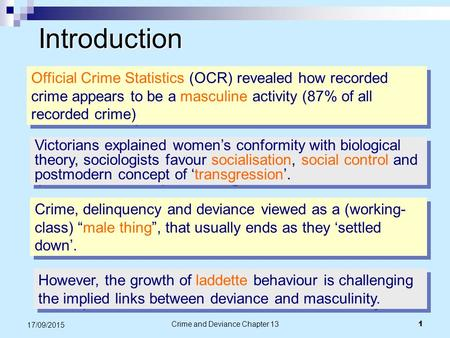 Crime and Deviance Chapter 13