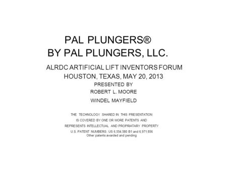 PAL PLUNGERS® BY PAL PLUNGERS, LLC.