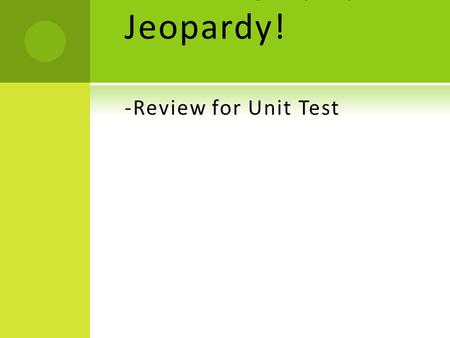 Oceanography Jeopardy! -Review for Unit Test
