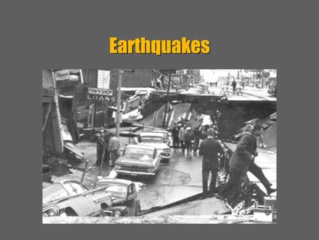 Earthquakes.  Earthquakes Result from Stress What is an Earthquake? –Definition :  Shaking of a crust by a release of energy – Results :  1. Explosions,