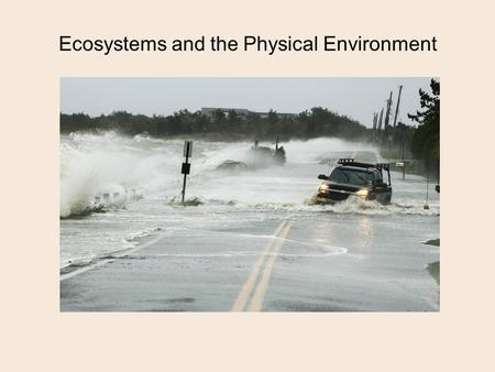 Ecosystems and the Physical Environment. Cycling of Materials.