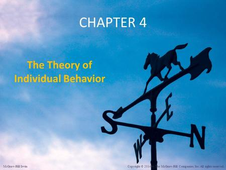The Theory of Individual Behavior