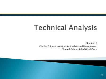 Technical Analysis Chapter 16