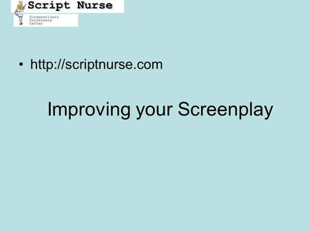 Improving your Screenplay