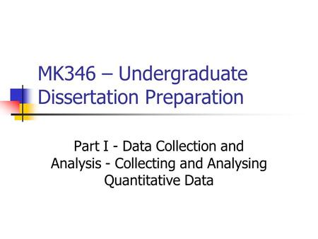 quantitative data analysis dissertation Writing chapter 4 step 2: report descriptive analysis of demographics ➢this  report depends on whether the study is quantitative or qualitative.