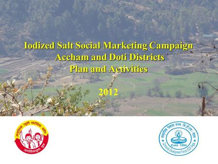 Iodized Salt Social Marketing Campaign Accham and Doti Districts Plan and Activities Iodized Salt Social Marketing Campaign Accham and Doti Districts Plan.