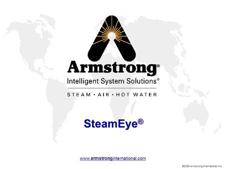 ©2006 Armstrong International, Inc. www.armstronginternational.com SteamEye ®