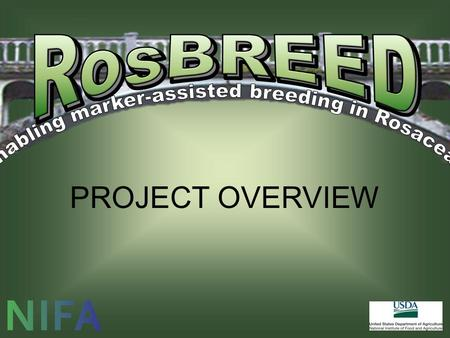 PROJECT OVERVIEW. Outline  The RosBREED Project  The Need for RosBREED  Major Activities  RosBREED is Underway.