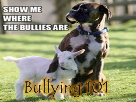 Bullying is aggressive behavior that involves unwanted, negative actions. Bullying involves a pattern of behavior repeated over time. Bullying involves.