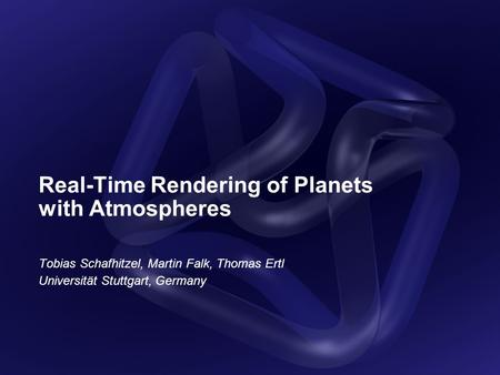Real-Time Rendering of Planets with Atmospheres