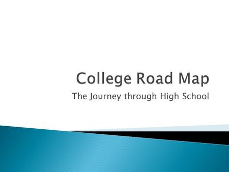 The Journey through High School. Prepare, be flexible, communicate, have fun.