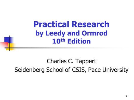 Practical Research by Leedy and Ormrod 10th Edition