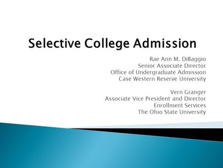 Selective College Admission