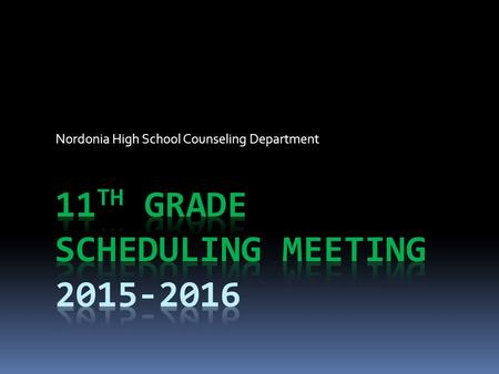 Nordonia High School Counseling Department. Graduation Requirements for the Class of 2017  You must have 21 credits to graduate from Nordonia H.S.