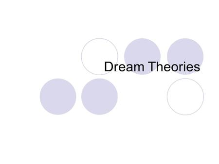 Dream Theories. Fritz Perls Perls' Dream Interpretation: The Gestalt Approach Dreams are seen as being projections of parts of oneself. Often these are.