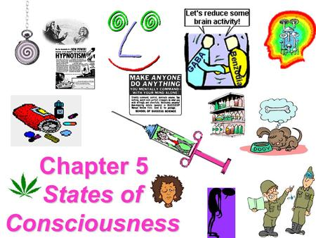 Chapter 5 States of Consciousness Lecture Overview Issues in Consciousness Sleep and Dreams Drugs that Influence Consciousness Alternate States of Consciousness.