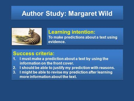 Author Study: Margaret Wild