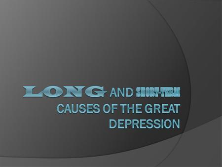 dbq essay on the great depression