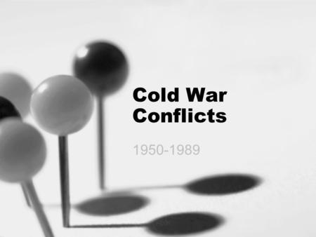 Cold War Conflicts 1950-1989. Chinese Revolution In 1949 Mao Zedong wins the Chinese Civil War & installs an communist gov't Capitalist leader Chiang.