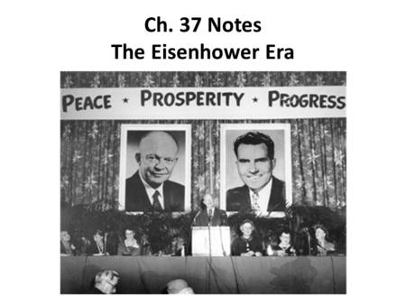 chapter 37 the eisenhower era 1952 1960 essay