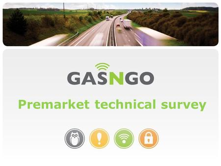 Gasngo Delivering Fuel Control Premarket technical survey.