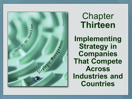 Chapter Thirteen Implementing Strategy in Companies That Compete Across Industries and Countries.