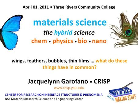 materials science the hybrid science chem • physics • bio • nano