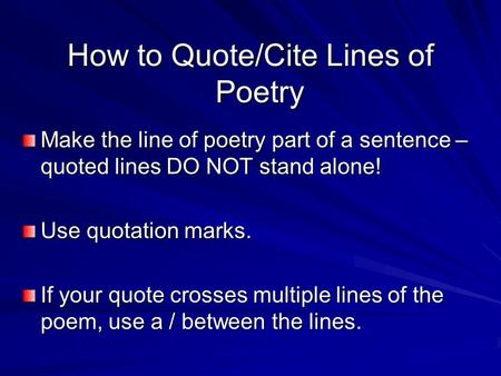 how do you cite a poem in an essay