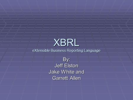 How to: Create Reports with XBRL