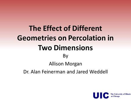 The Effect of Different Geometries on Percolation in Two Dimensions