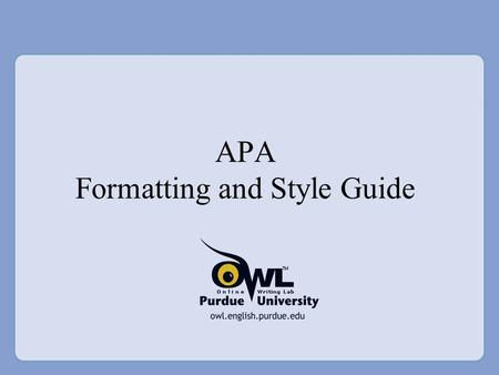 APA Formatting and Style Guide What is APA? The A merican P sychological A ssociation (APA) citation style is the most commonly used format for manuscripts.